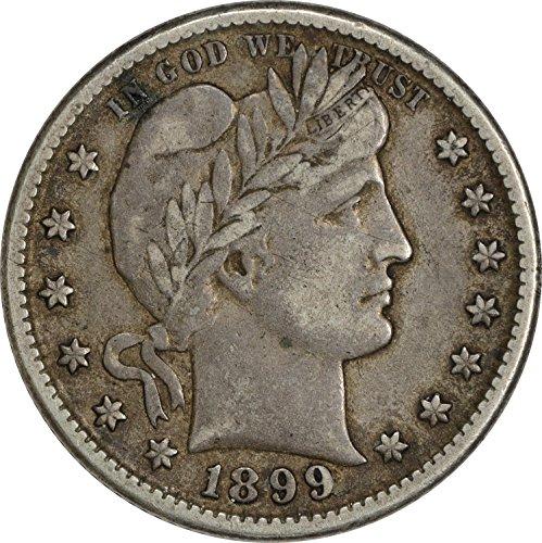 1899-O Barber Silver Quarter EF Uncertified