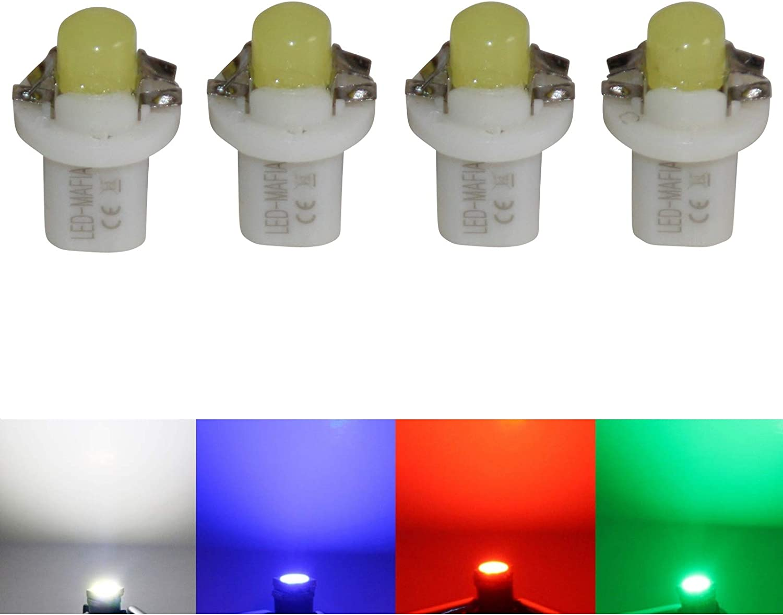 MID Set gr/ün wei/ß blau rot e LED-Mafia Halogen Tachobeleuchtung Cockpitbeleuchtung Set 4X
