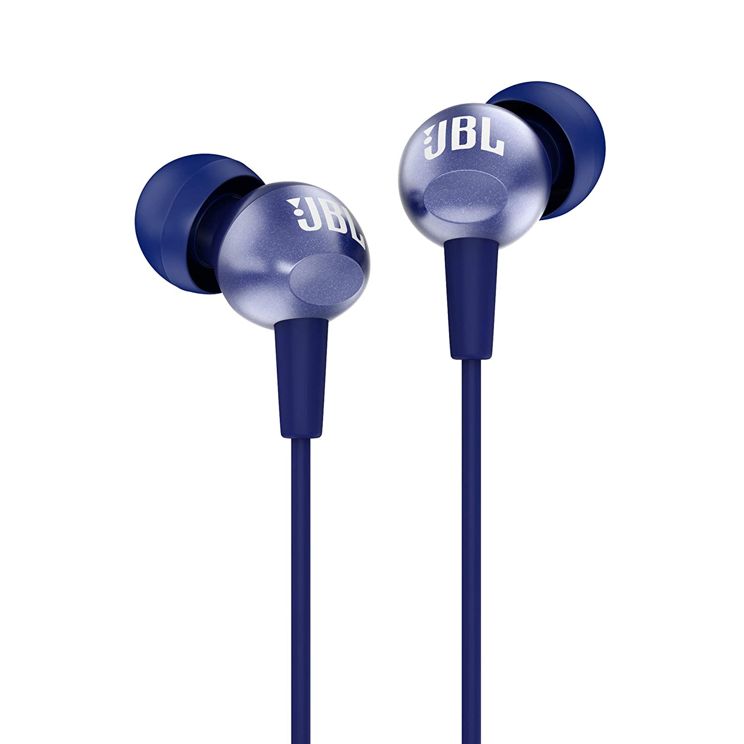 JBL C200SI Super Deep Bass in-Ear Premium Headphones with Mic (Mystic Blue)