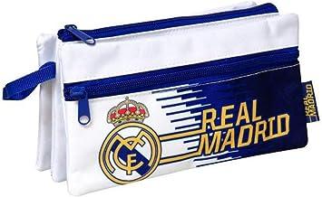 Real Madrid Estuche portatodo Triple con Bolsillo 22cm: Amazon.es: Juguetes y juegos