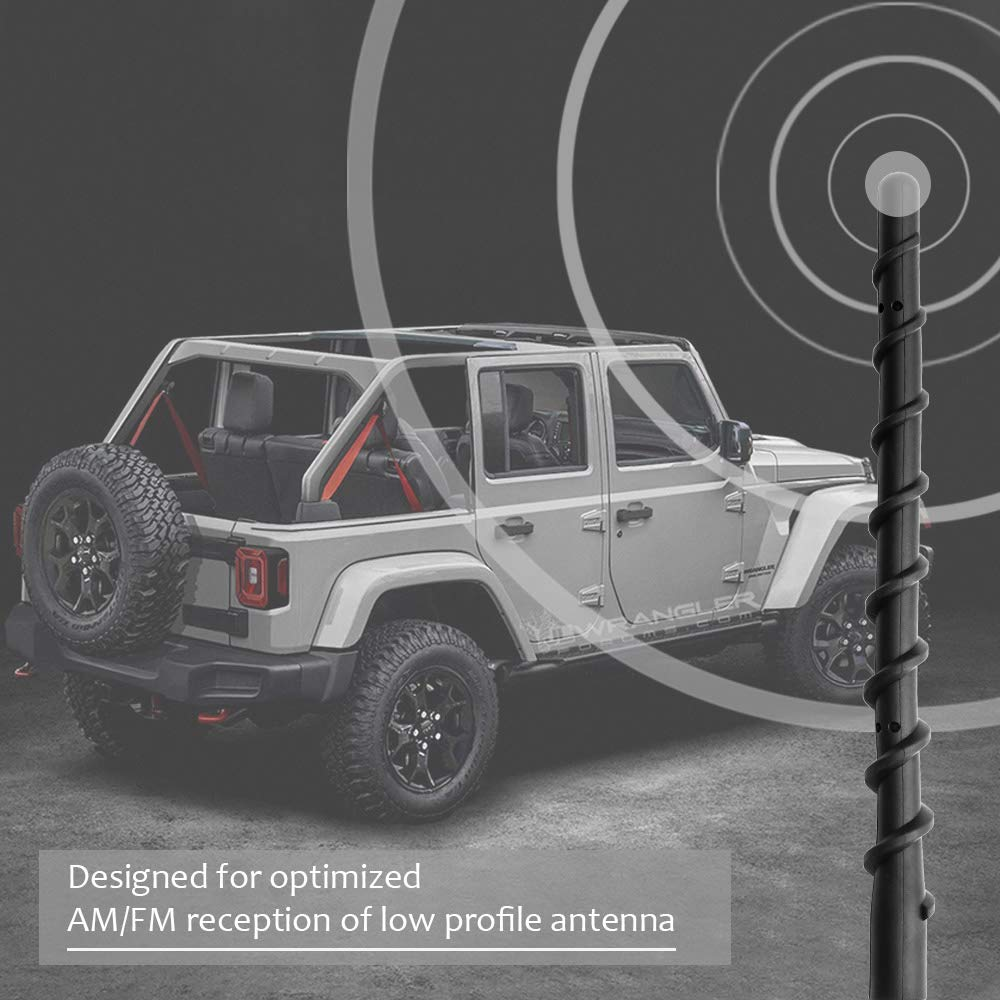 VOFONO 8 Inch Spiral Replacement Antenna for 2007-2019 Jeep Wrangler JK JL