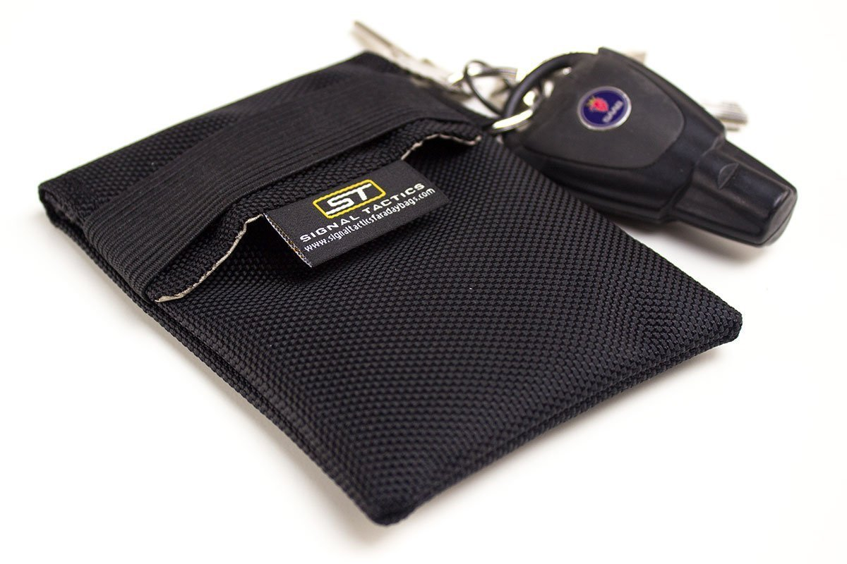 Shield your key fob from duplication and the autorelay hack with this signal shielding faraday bag! Signal Tactics Key Fob Faraday Bag Military-grade auto and anti-hacking security bag