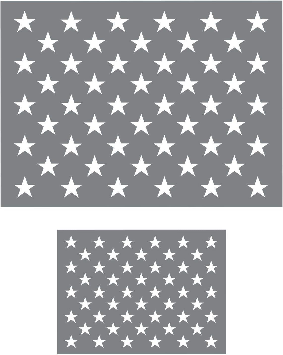 American Flag Star Stencil Template - American Flag Stencils for Painting on Wood - American Flag Star Stencils - Star Stencils - Flag Star Stencils - 50 Stars Stencil