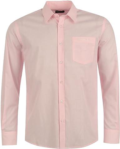 Pierre Cardin - Camisa de manga larga para hombre rosa S: Amazon.es: Ropa y accesorios