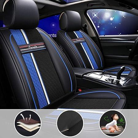 Shanhua Autositzbezüge 5 Sitze Full Set Universal Für C Hevy Prizm Mit Seiten Airbag Öffnungen Schwarz Blau Auto