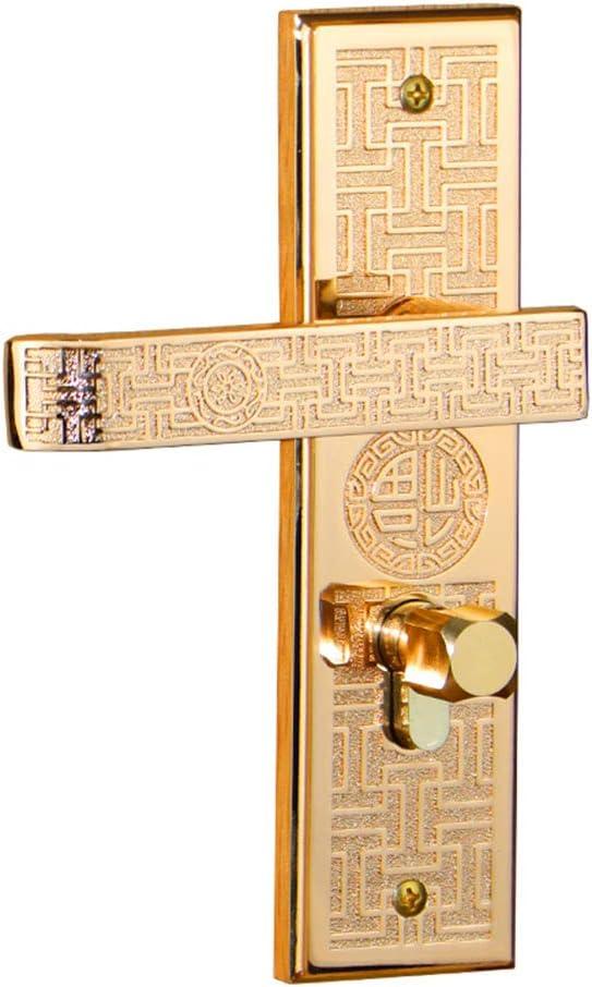 Key-gold Suitable For Door Thickness 35-45cm Handle Lock Core Chinese Zinc Alloy Indoor Silent Wooden Door Lock Handle Door Lock