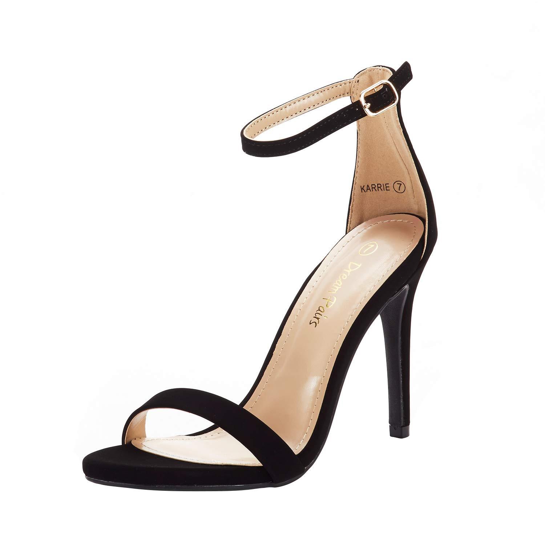 DREAM PAIRS Women's Karrie High Stiletto Pump Heeled Sandals