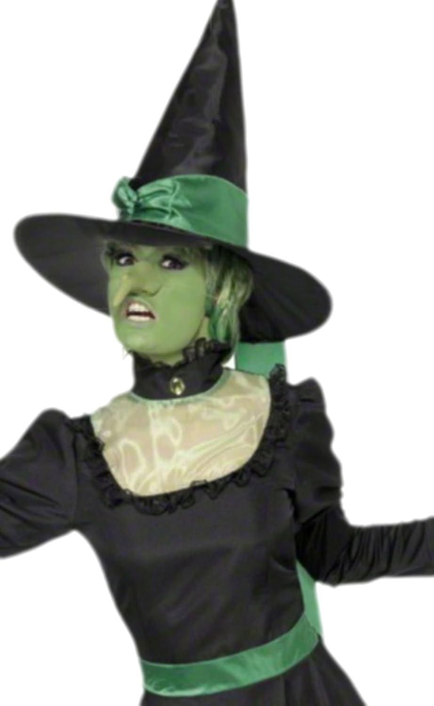 Karnevalsbud - Damen Waldhexe Waldhexe Waldhexe Zauberin Kostüm mit Hut, L, Schwarz 728f71
