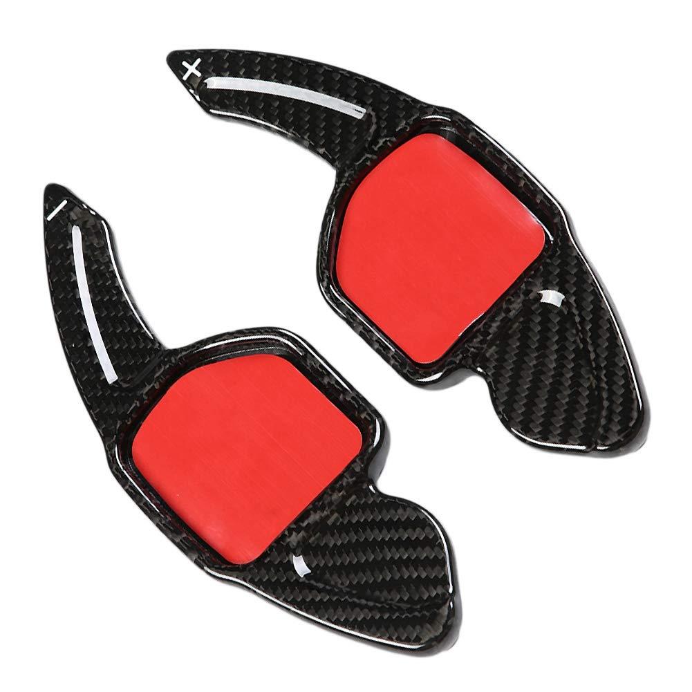 Suuonee Paddle Extension Shifter 2pcs Carbon Fiber Paddle Shifter Extension for A1 A3 A4 A5 A7 A8 Q3 Q5 Q7