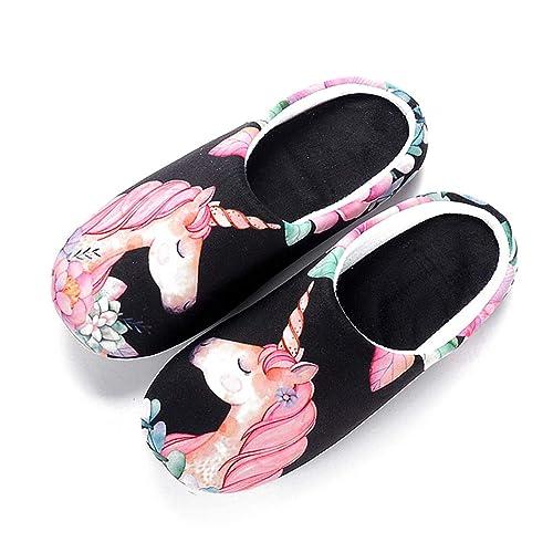 Zapatos de algodón cálido Botas Primavera Mujeres Inicio Suave de Dibujos Animados de Interior Antideslizante Casa Chicas Zapatillas Calzado: Amazon.es: ...