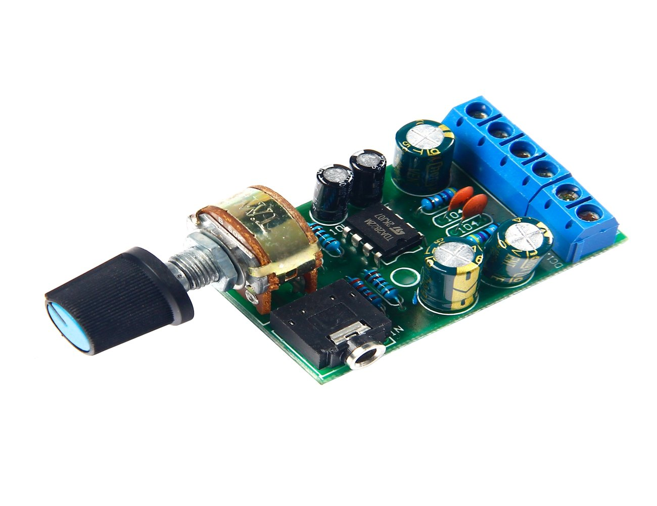 Dc18 12v Tda2822m Amplifier 20 Channel Stereo Aux Low Power Tda2822 Audio Amp Board Module Home Theater