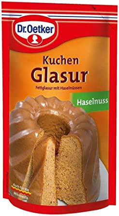 Dr Oetker Kuchen Glasur Haselnuss 125 Gr Amazon De