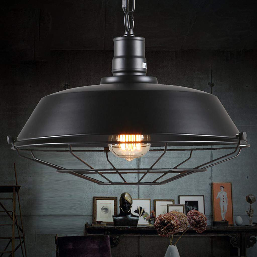 AIUSD Hanging Industrial Light Vintage Metal Shade Pedant Ceiling Lighting