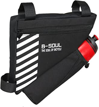 Water bottle not included UPANTECH UPANBIKE Bike Triangle Frame Bag 1.5L Polyester Front Tube Bag Bicycle Saddle Bag With Water Bottle Holder