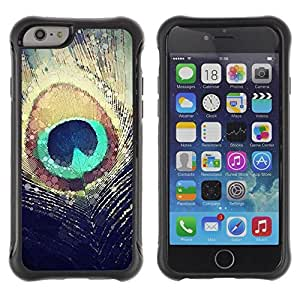 Suave TPU GEL Carcasa Funda Silicona Blando Estuche Caso de protección (para) Apple Iphone 6 / CECELL Phone case / / Feather Sun Iridescent Teal /
