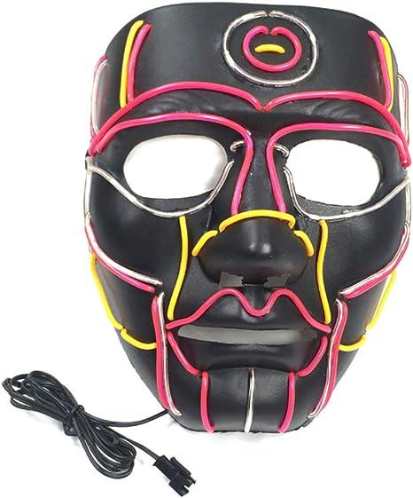 RG-FA Disfraz de Halloween Divertida Máscara LED Purga Máscaras de ...