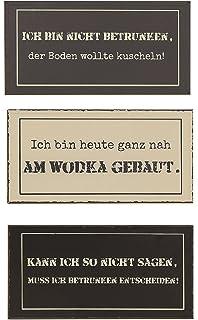 Amazon De 3er Set Metall Wandbilder Lustige Spruche Schilder