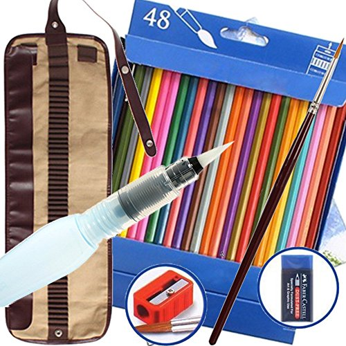watercolor-pencils-bonus-water-pen-48-assorted-artist-grade-high-quality-break-resistant-water-color