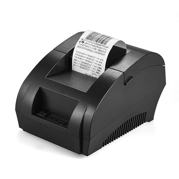 KKmoon - Impresora térmica de códigos de tiques en 58 mm de papel ...