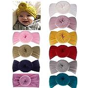 DANMY Baby Girl Nylon Headbands Newborn Infant Toddler Hairbands and Bows Child Hair Accessories (Nylon Donut12 (10pcs))
