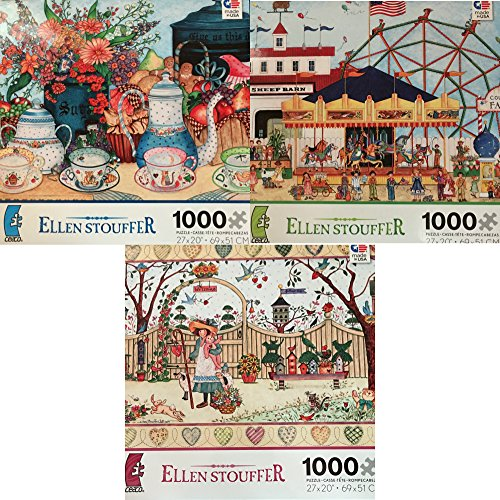 ellen-stouffer-1000-piece-puzzle-set-3-puzzles-included-my-friends-give-us-this-day-and-county-fair-