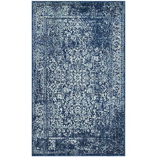 Safavieh Evoke Collection EVK256A Vintage Oriental Navy and Ivory Area Rug (2'2