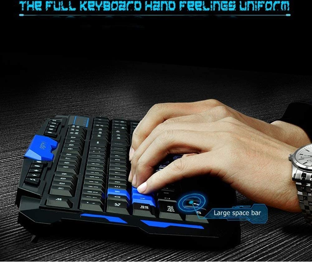 Ideal for Typing Daily Game Keyboard and Mouse Set-BlackBlue YYZLG Wireless Mouse and Keyboard Set Quick Responsive Office