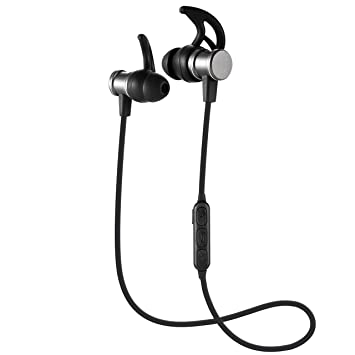Auriculares Bluetooth, Veemoo Auriculares Inalámbricos Sport In Ear Magnetic High Fidelity Stereo Heavy Bass Auriculares Confort Recargados y Livianos Con ...
