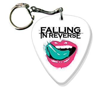 Falling In Reverse Big Guitarra llavero Púa metálica: Amazon ...