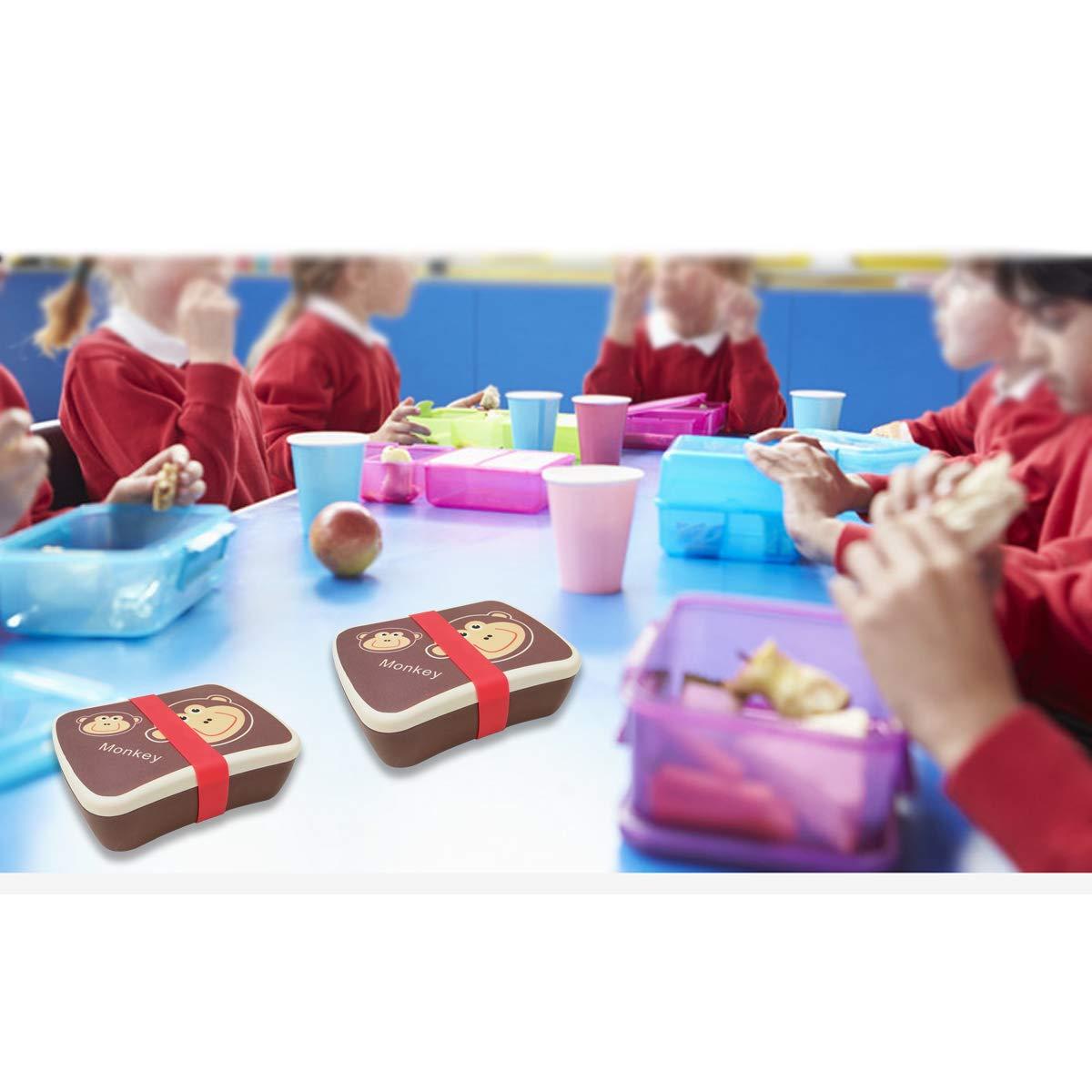 Fiambrera,Tupper,lonchera infantil,Fibra de Bamb/ú,Conjunto Sandwichera y Tupper de bamb/ú.ideal para infantil ni/ños y beb/é,Material ecol/ógico sin BPA Apto para lavavajilla-abeja