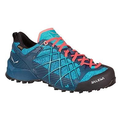 Salewa WS Wildfire GTX, Zapatos de Low Rise Senderismo para Mujer, Turquesa (Poseidon