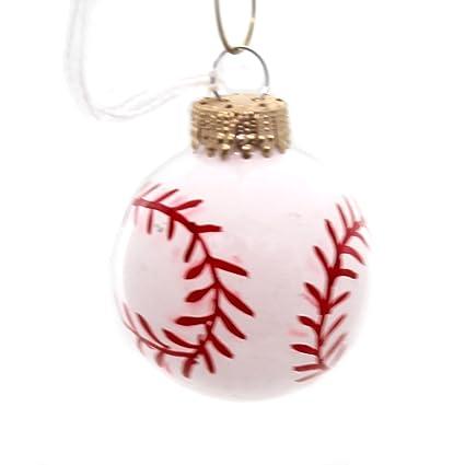 holiday ornaments sports ball glass bat runs bases innings 200055b baseball - Baseball Christmas Ornaments