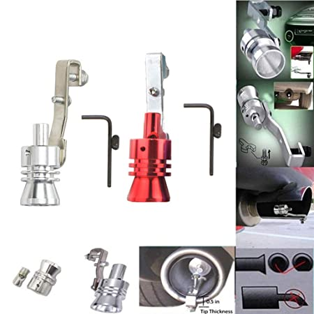 Hongxin Sound Maker,Exhaust Pipe Oversized Roar Maker Car Auto Exhaust Pipe Loud Whistle Sound Maker,S//L//M//XL,Aluminum Turbo Sound Whistle Exhaust Pipe Tailpipe Blow-Off Valve Simulator L, red