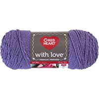 Red Heart with Love E400.1538 Yarn, Lilac