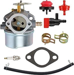 mdairc Carburetor for Tecumseh 640349 640052 640054 640058 640058A HMSK80 HMSK90 LH318SA LH358SA 8HP 9HP 10HP Snowblower Generator Chipper Carb
