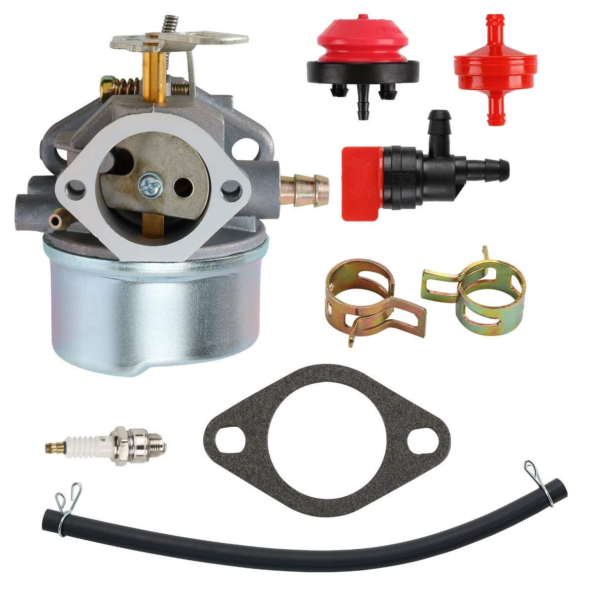 mdairc Carburetor for Tecumseh 640349 640052 640054 HMSK80 HMSK90 LH318SA LH358SA 8HP 9HP 10HP Snowblower Generator Chipper Carb