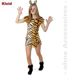 Fries 1304 Tisha Kleid Fasching Karneval Erwachsene Damen Tiger