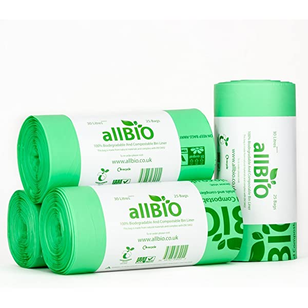 50 Litre x 100 bags allBIO 50 Litre 100% Biodegradable ...