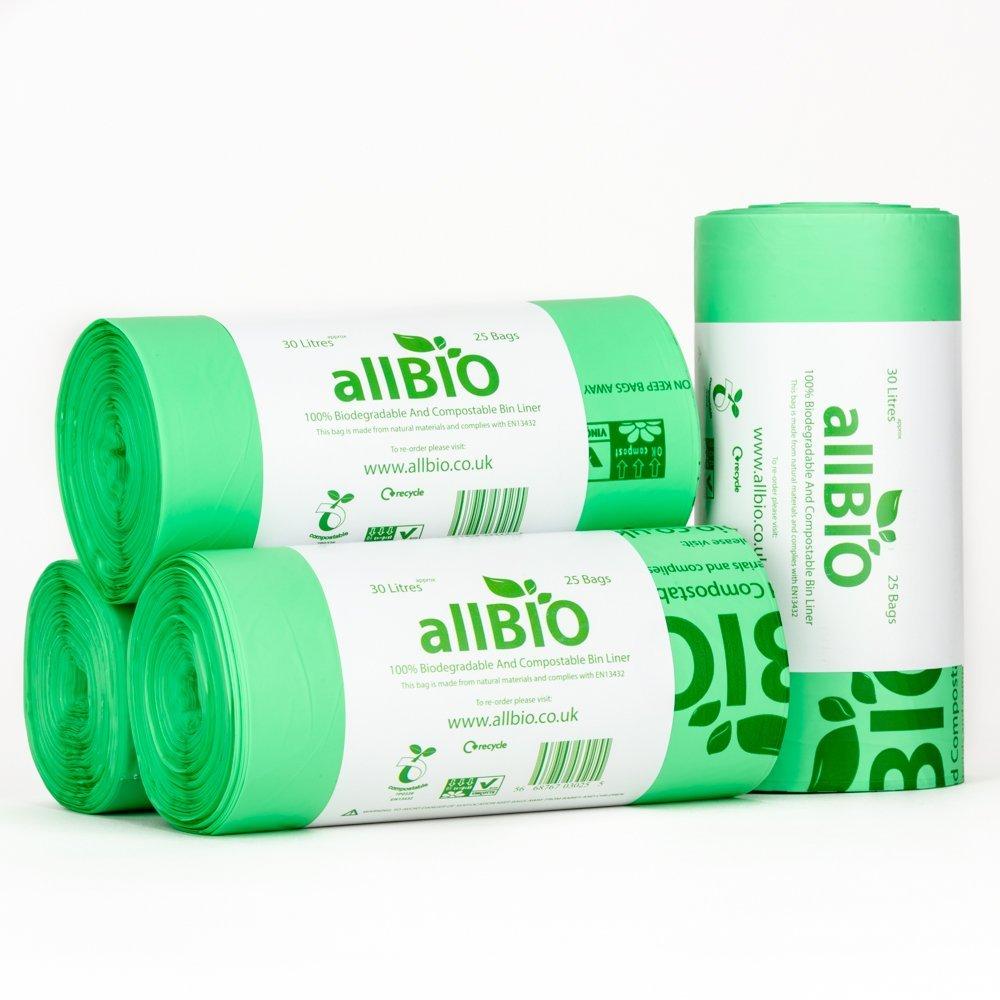 allBIO 30 Litre x 100 Bags 30 Litre 100% Biodegradable ...