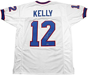 Jim Kelly Signed Jersey - Custom White - Autographed NFL Jerseys at ... ae13f109d