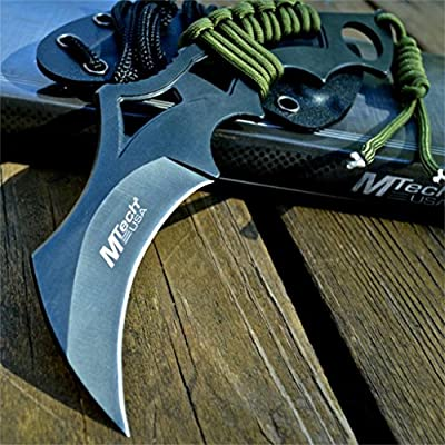 "8"" M-TECH Tactical Combat Neck FIXED BLADE KNIFE Karambit Claw w/ KYDEX SHEATH"