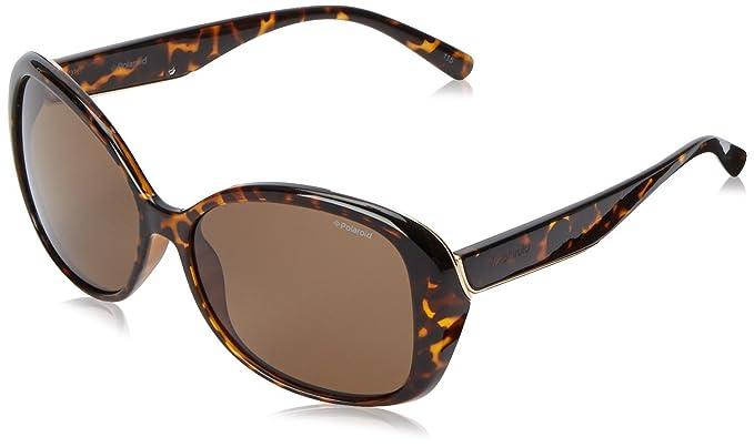 563c45bc13 Polaroid Pld4023s - anteojos de sol ovaladas polarizadas para mujer,  Havana/marrón, 58
