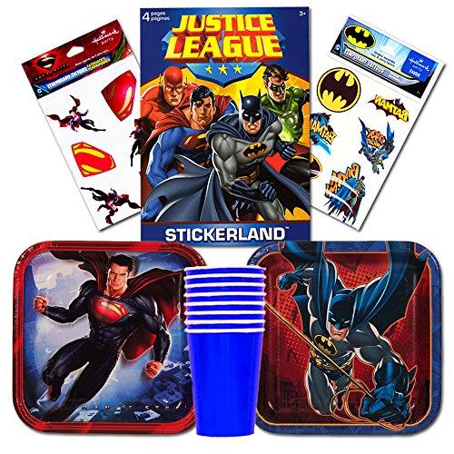 Justice League Batman v Superman Party Supplies Set -- Party Favors, Plates, Cups, Party Decorations