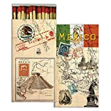 Vintage Style Mexico Post Card Matches | Mexican Travel Tourism Set 10