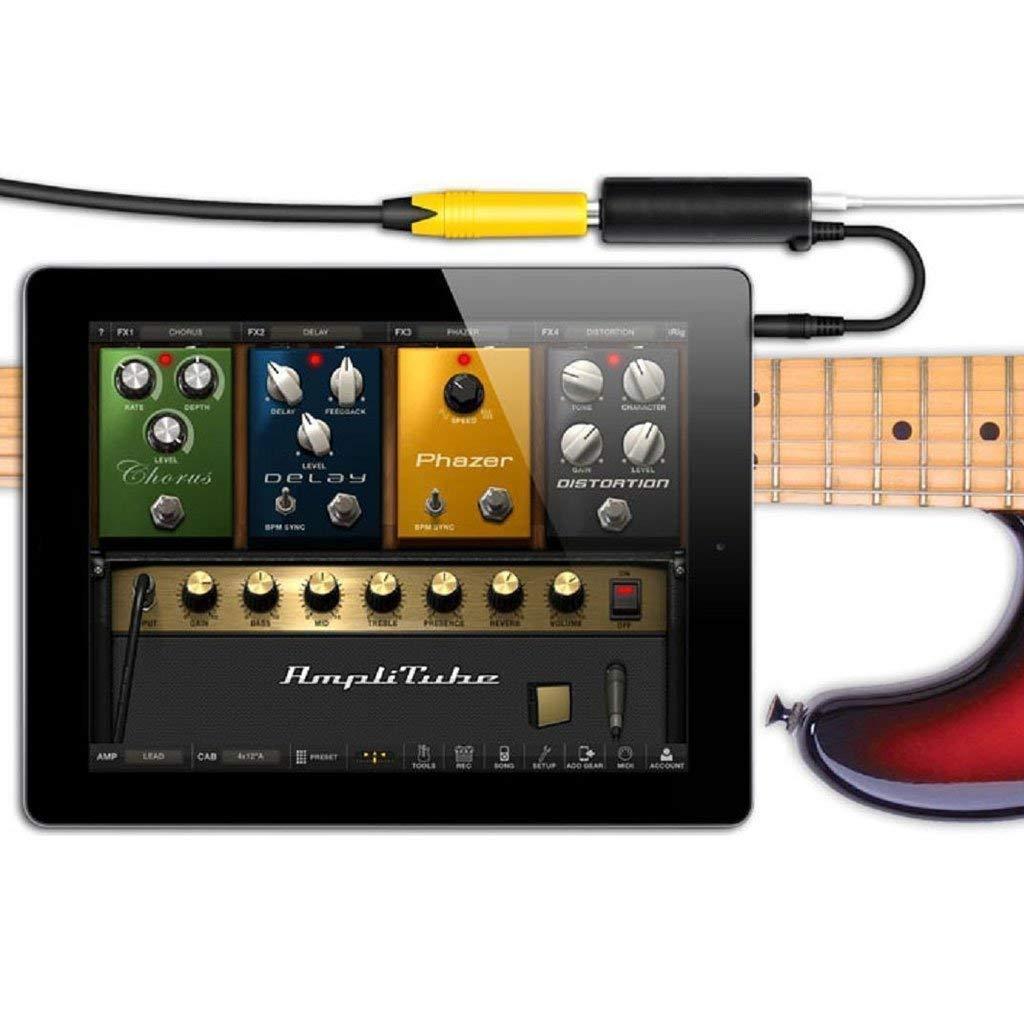 iPad 1 Pcs Noir Aofocy Adaptateur de convertisseur de Guitare Lien de c/âble Adaptateur de convertisseur Audio Convertisseur Audio Accordeur Convient pour iPhone