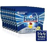 Finish Powerball Quantum Ultimate Dishwasher Tablets, 144 tablets (8x18), Lemon Sparkle