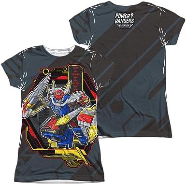 Megazord Power Rangers Gray Large T-Shirt