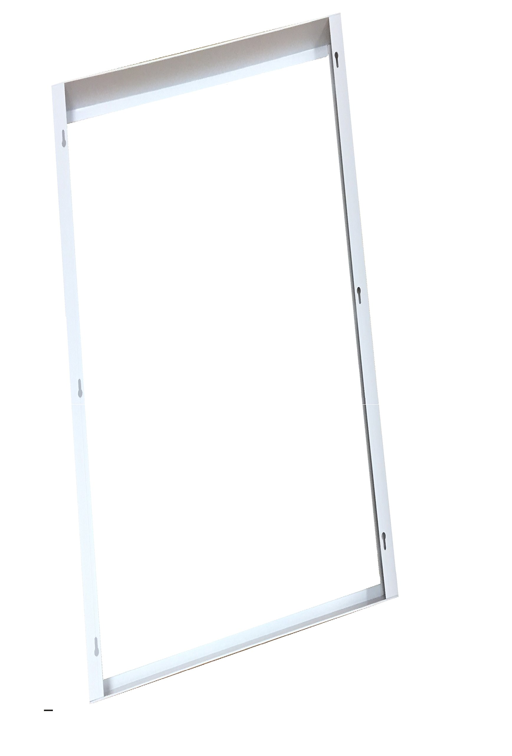 WennoW Commercial Aluminum Surface Mount Kit for 2x2' or 2x4' LED Flat Panel Light for Drop Ceiling Mount (2x4')