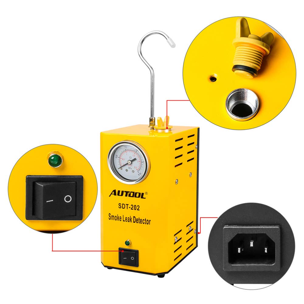Autool 12V Automotive EVAP Tester Detectors Cars Pipe Leak Detector SDT-202 Car PIPE Leakage Detector Tester For All Vehicles Leak Tester Detector Machine by AUTOOL (Image #3)