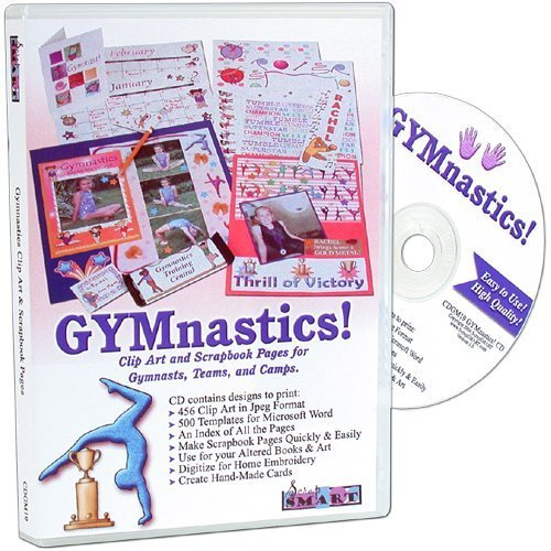 ScrapSMART - GYMnastics Software Clip Art and Scrapbook Pages for Gymnasts, Teams, Coaches, and Camps 875 Designs in Microsoft Word & Jpeg Formats (CDGM19)